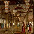 Prayer in the Mosque Print by Jean-Leon Gerome