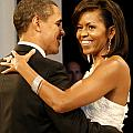 President and Michelle Obama by Official Government Photograph
