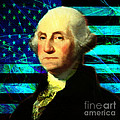President George Washington v2 p138 square Print by Wingsdomain Art and Photography