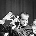 President Richard Nixon Gesturing Print by Everett