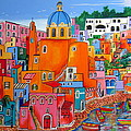 Procida houses Poster by Roberto Gagliardi