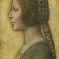 Profile of a Young Fiancee Print by Leonardo Da Vinci