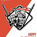 Proud To Be English Happy St George Greeting Card Poster by Aloysius Patrimonio