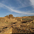 Pueblo Bonito walls and rooms Print by Feva  Fotos