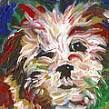 Puppy Spirit 101 Print by Linda Mears