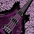 Purple Bass Poster by Chris Berry