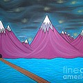 Purple Mountains Print by Robert Nickologianis