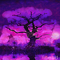 Purple tree of life Print by Pixel Chimp
