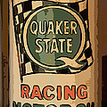Quaker State Oil Can Poster by Carrie Cranwill