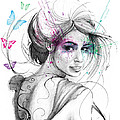 Queen of Butterflies Print by Olga Shvartsur