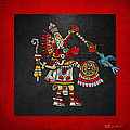 Quetzalcoatl in human warrior form - Codex Magliabechiano Print by Serge Averbukh
