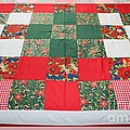 Quilt Christmas Blocks Print by Barbara Griffin