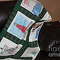 Quilt Newfoundland Tartan Green Posts Poster by Barbara Griffin
