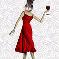 Rabbit in a Red Dress Print by Kelly McLaughlan