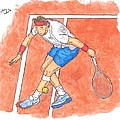 Rafa On Clay Print by Steven White