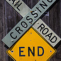 Rail Road Crossing End sign Poster by Garry Gay