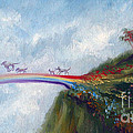 Rainbow Bridge Print by Stella Violano