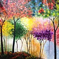 Rainbow Forest Print by Shilpi Singh
