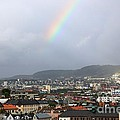 Rainbow over Oslo Poster by Carol Groenen