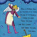 Rainy Day Angel Print by Sarah Batalka