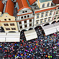 Rainy Day in Prague-1 Poster by Diane Macdonald