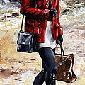 Rainy day - Woman of New York 09 Poster by Emerico Imre Toth