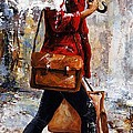 Rainy day - Woman of New York 17 Poster by Emerico Imre Toth
