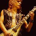 Randy Rhoads at The Cow Palace in San Francisco Print by Daniel Larsen