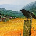 Raven and the Village 2 Poster by Carolyn Doe
