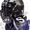 Ray Lewis -  Last Game Poster by Michael  Pattison