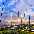 Ready for Sails Print by Debra and Dave Vanderlaan
