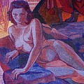 RECLINING NUDE   ART DECO Print by Gunter  Hortz
