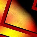 Red angle with yellow Print by Mario  Perez