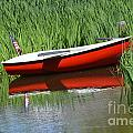RED BOAT AMERICANA Print by ADSPICE STUDIOS