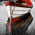 Red Boat Print by Dapixara Art