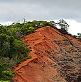 Red Cliff at Waimea Poster by Christi Kraft