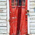 Red Door By Diana Sainz Poster by Diana Sainz