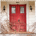 Red doors - Charming old doors on the abandoned house Print by Gary Heller