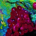 Red Grapes Oh My My Print by Eloise Schneider