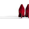 Red High Heel Shoes Poster by Natalie Kinnear