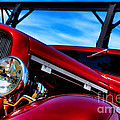 Red Hot Rod Print by Olivier Le Queinec