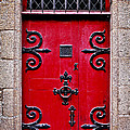 Red medieval door Print by Elena Elisseeva