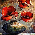 Red Poppies 02 Poster by Emerico Imre Toth