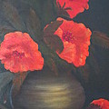 Red Poppies Poster by Kay Novy