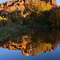 Red Rock Reflections Print by Mike  Dawson