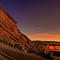 Red Rocks Amphitheatre at Night Poster by James O Thompson