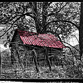 Red Roof Poster by Debra and Dave Vanderlaan