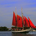 Red Sails Print by Kathleen Struckle