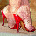 Red Shoes Print by James Shepherd