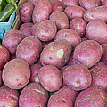 Red Skin Potatoes Stall Display Print by JPLDesigns